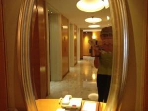 Eternal elevator mirrors