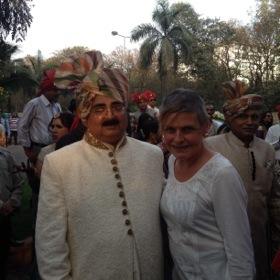 ..the groom's gracious father, Vivendra Vohra..