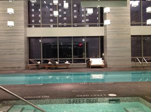 Two-floor high pool, vitality pool in front