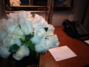 Glamour - flowers, and a note from the housekeeper
