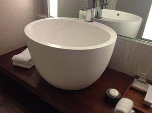 Washbasin shaped like a Japanese drum