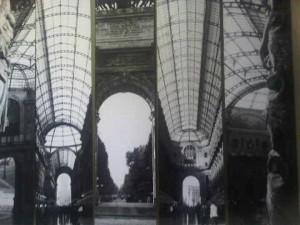 old print of Galleria Vittorio Emanuele at Park Hyatt luxury hotel, Milan