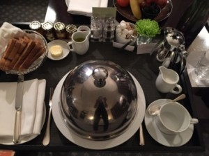 Pre-dawn room service breakfast