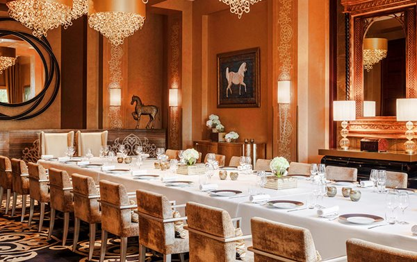 Private dining room at Celebriries restaurant - One & Only Royal Mirage, Dubai