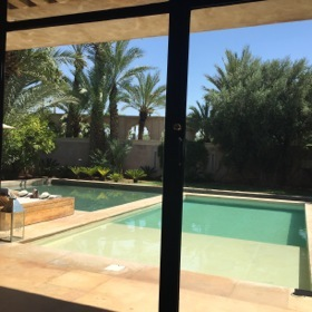 From villa four, look across the private pool