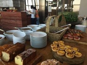 A corner of the copious breakfast buffet