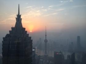 Sunset from Park Hyatt Shanghai