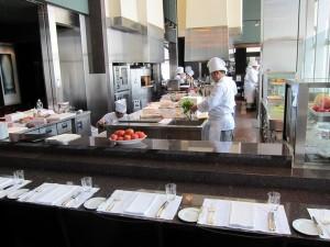 New York Grill's working kitchen