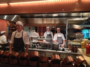 The kitchen brigade is ready..