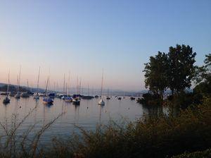 Sunrise over Zürichsee