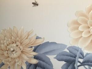 Embroidered silk chrysanthemum
