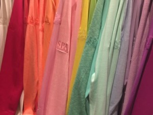 .. and sweatshirts in the spa