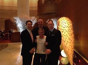 From left, Mark Kobayashi, Adam Mathis, Kieron Hunt