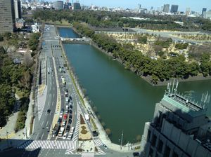 Looking down from 1919, at the Imperial Palace moat
