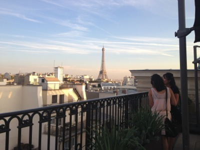 Rooftop, looking towards the Eiffel Tower