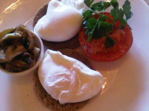 Poached eggs, Astoria hotel, St Petersburg
