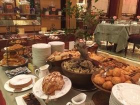 Breakfast buffet section