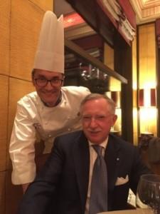Ezio Indiani and chef Fabrizio Cadei