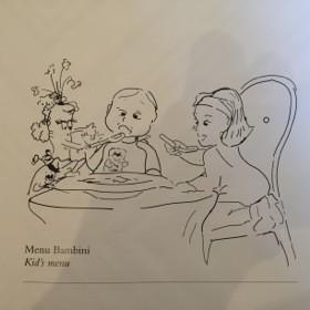 Kids' room service menu