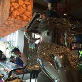Looking through Yi restaurant