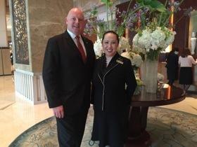 Peter Clarke and Judy Leung