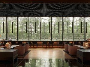 Pu Li hotel Shanghai - lobby and long bar
