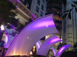 The atrium by night
