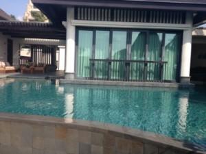 A pool villa