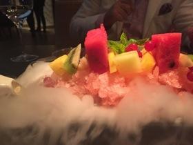 Foaming fruit salad