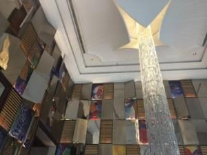 'Rain' falls from a 'broken' ceiling