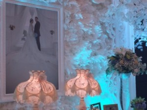 Corner of one wedding party venue