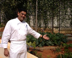 Anupam Banerjee shows off his organic garden
