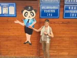 At the panda police station