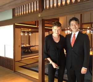 Yuji Tanaka at the former Baron Fujita's house, now a private dining area