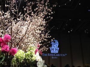 Cherry blossom in the ballroom
