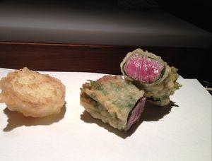 Yonezawa beef sushi