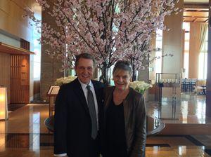 John Rolfs and cherry blossom