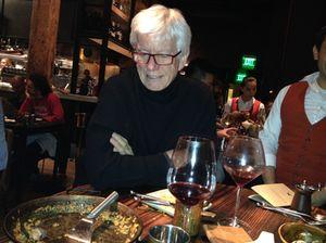 Bob Puccini surveys the end of the paella