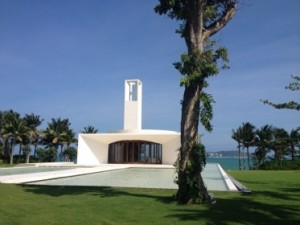 Wedding chapel by the sea