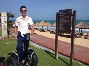 Beach service by Segway