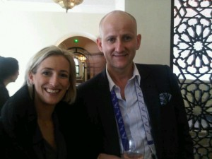Luxury hotels and travel - PURE organizers Sarah Ball and Serge Dive at lunch hosted by Four Seasons Hotel Marrakech