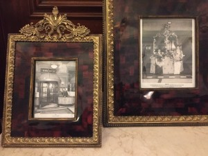 Old photos in the lobby