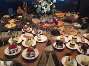 Its elegant dessert buffet