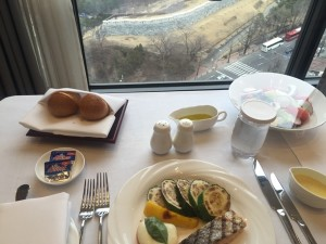 Room service by the window