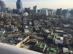Looking down at Gangnam
