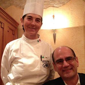 Eric Swanson and his Italian chef, Anita Bidini