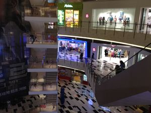 Looking down into the IFC mall