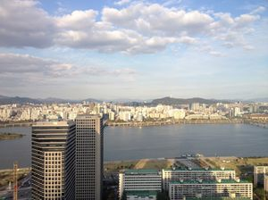 And a final view across the Han River from Conrad Seoul room 3506