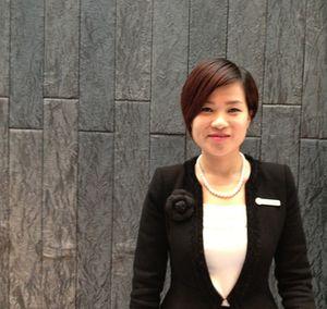 Sophia Zhang in hotel gear