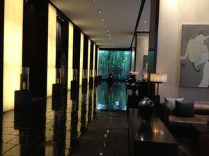 Look along the lobby corridor...